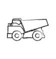 big dump truck vector image vector image