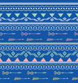 blue pink tribal arrows seamless pattern vector image vector image