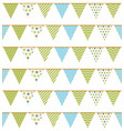 bunting seampless pattern vector image vector image