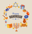 card for happy hanukkah vector image vector image