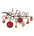 Christmas bough vector image vector image