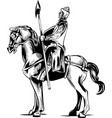 clip art an armored knight vector image