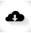 cloud downloading vector image