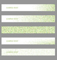Colored mosaic web banner design set vector image