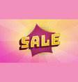 comic sale banner retro style lettering on vector image vector image