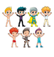 Costumes for avatar vector image vector image
