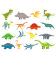 cute badinosaur dinosaurs dragon and funny vector image vector image