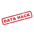 Data Hack Rubber Stamp vector image vector image