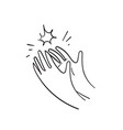 doodle sketch style hand applause cartoon style vector image vector image