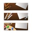 Drawing Banners Horizontal vector image vector image