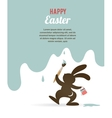 Easter card with bunny vector | Price: 1 Credit (USD $1)