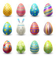easter eggs painted with spring vector image vector image