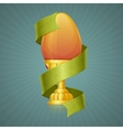Egg Cup With Ribbon vector image vector image
