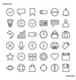 essential outline icons perfect pixel vector image vector image