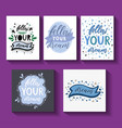 follow your dream handdrawn card vector image vector image
