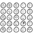 funny hand drawn unique smiles vector image vector image