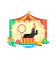 fur seal in a circus vector image
