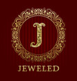 golden logo template for jeweled boutique vector image vector image