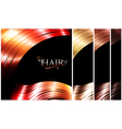 Hair palette vector image vector image