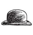 hat bowler pattern vintage engraving vector image vector image