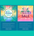 hot summer sale poster up to 70 off banner frame vector image vector image