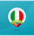 italy flag map location pin european football vector image