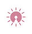 key hole sun light logo vector image vector image
