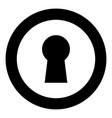 keyhole icon black color in circle vector image vector image