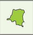 kongo map vector image