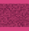light and dark pink knit seamless pattern eps 10 vector image vector image