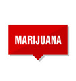 marijuana red tag vector image vector image