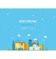 Merry Christmas greeting card design Urban vector image