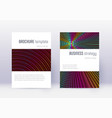 minimalistic cover design template set rainbow ab vector image vector image