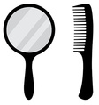 Mirror and comb vector image vector image