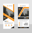 Orange roll up business brochure flyer banner vector image vector image