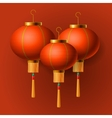 Oriental Chinese New Year lantern vector image vector image