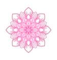 pink circular lotus mandala flower pattern vector image