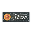 pizza black banner vector image