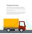 poster shipping and freight of goods vector image