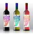 premium quality red white and pink wine labels vector image vector image