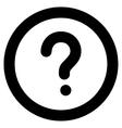 Question Stroke Icon vector image vector image