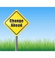 road sign change ahead