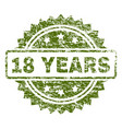 scratched textured 18 years stamp seal vector image