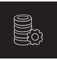 Server with gear sketch icon vector image vector image