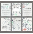 Set of six designs of hand-drawn arrow vector image