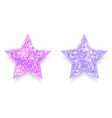 set sparkling pink and purple stars vector image vector image