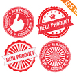 Stamp sticker new product collection - - EP vector image