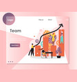 team website landing page design template vector image vector image