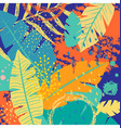 tropical background with colorful leaves and vector image vector image