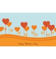 Valentine day with love on hill landscapes vector image